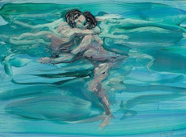 "Eric Fischl""Swimming Lovers"" , 1984"