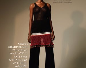 Harper's Bazaar, March 2021 ph: Amy Troost models: Eniola Abioro, Ambar Cristal, Dede, and Kyla Ramsey fashion editor…